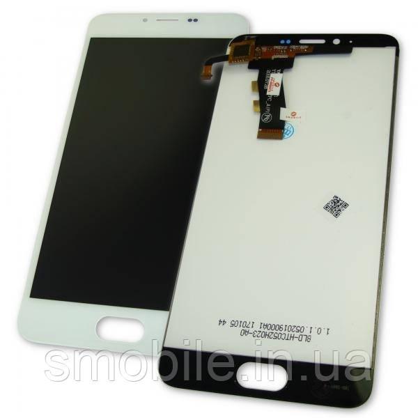 Meizu Дисплей Meizu M5 M5 Mini M611A с сенсором, белый (оригинальные комплектующие)