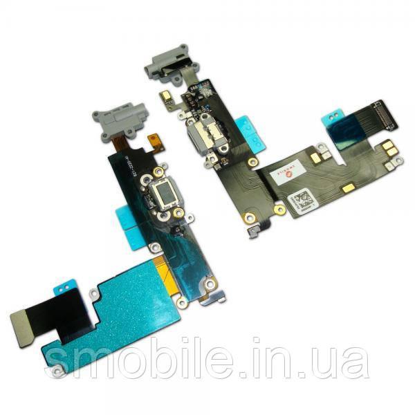 Apple Шлейф iPhone 6 Plus + разъемы зарядки и под наушники темно-серые (оригинальные комплектующие)