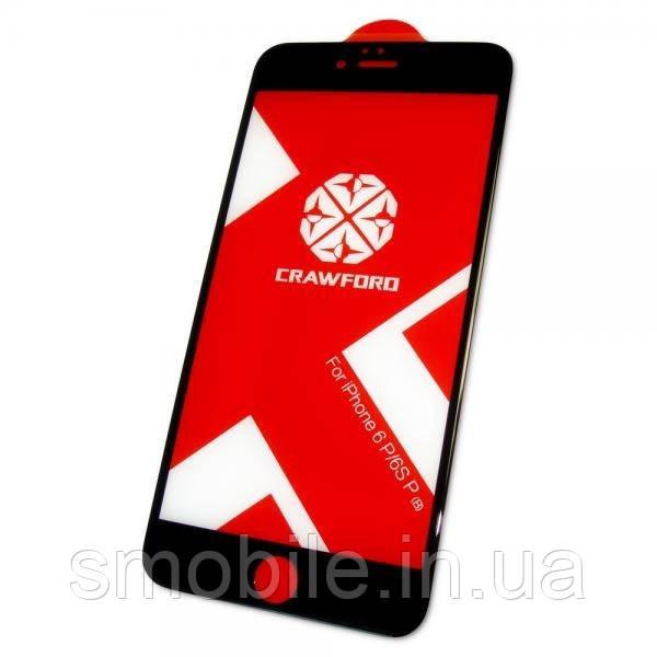 XO Защитное закаленное стекло XO FD1 для iPhone 6 Plus / 6S Plus полноэкранное черное 0.26 мм 3D (оригинал)