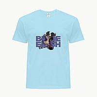 Детская футболка для девочек Билли Айлиш (Billie Eilish) (25186-1208) Голубой , фото 1