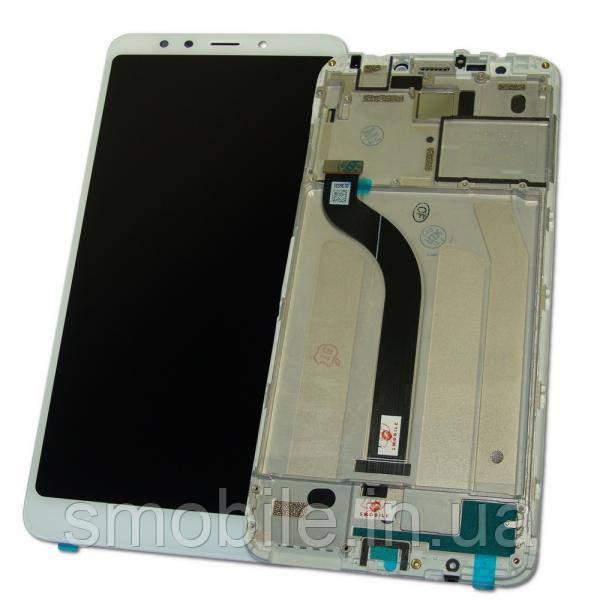 Xiaomi Дисплей Xiaomi Redmi 5 с сенсором и рамкой, белый (оригинальные комплектующие)