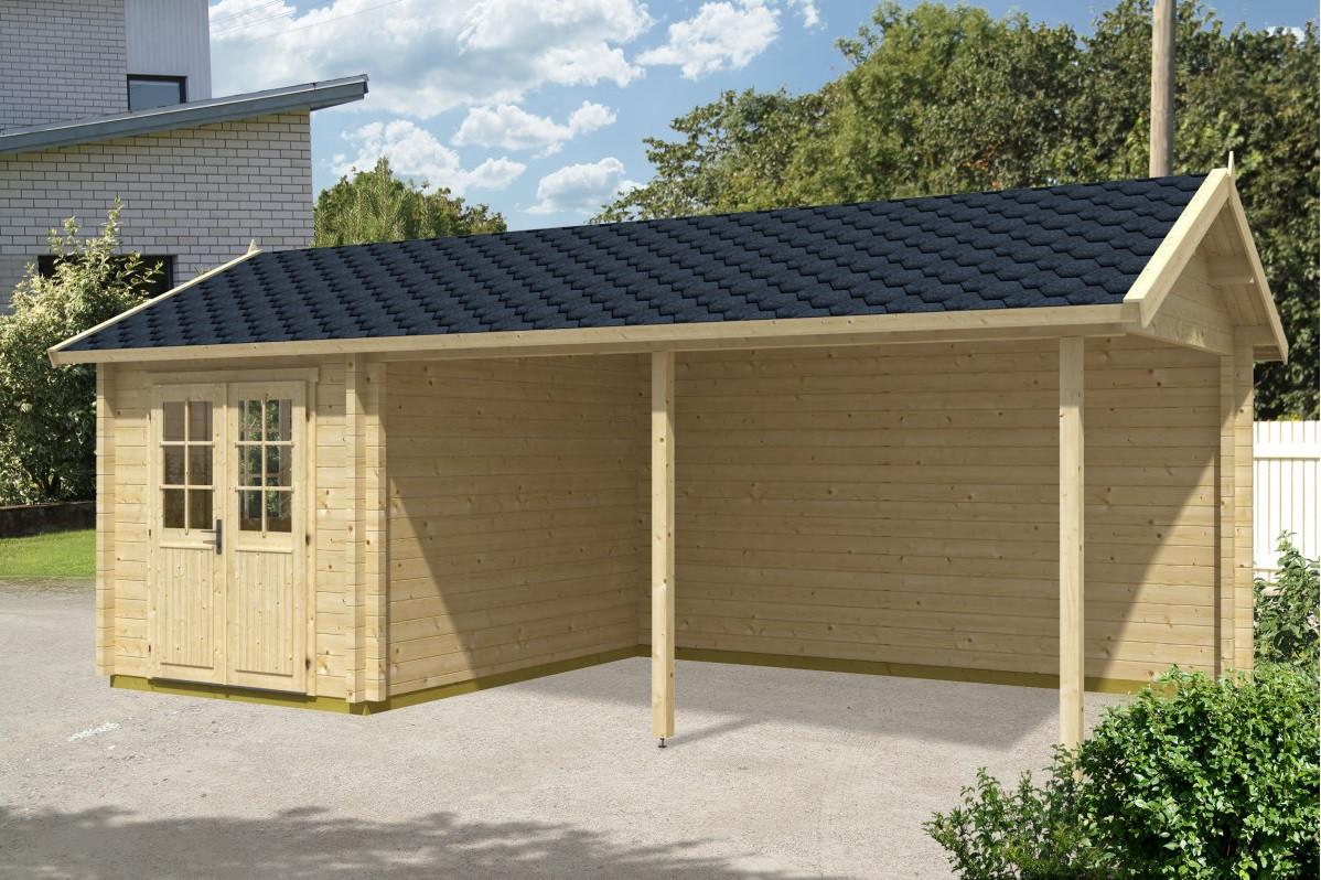 Деревянный дом из термобруса 21 м2. Кредитование строительства деревянных домов Thermo Wooden House 059