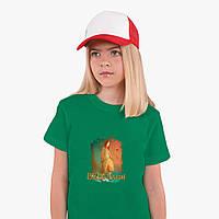 Детская футболка для девочек Билли Айлиш (Billie Eilish) (25186-1209) Зеленый, фото 1