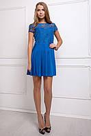 Платье CIL Моника; цвета: электрик | бирюза | коралл,