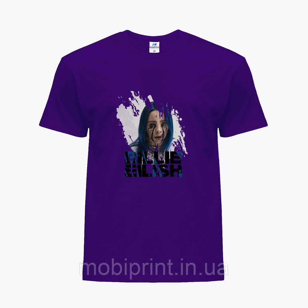 Детская футболка для девочек Билли Айлиш (Billie Eilish) (25186-1210) Фиолетовый