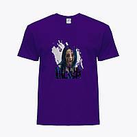 Детская футболка для девочек Билли Айлиш (Billie Eilish) (25186-1210) Фиолетовый, фото 1