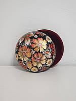 Шкатулка универсальная Петриковская роспись, национальный подарок женщине, девушке, маме, бабушке, 14 см, 003