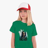 Детская футболка для девочек Билли Айлиш (Billie Eilish) (25186-1210) Зеленый, фото 1