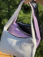 Жіноча сумочка човник з крокодила в лавандовом кольорі, фото 3
