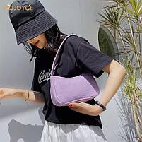 Жіноча сумочка човник з крокодила в лавандовом кольорі, фото 6
