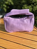 Жіноча сумочка човник з крокодила в лавандовом кольорі, фото 7