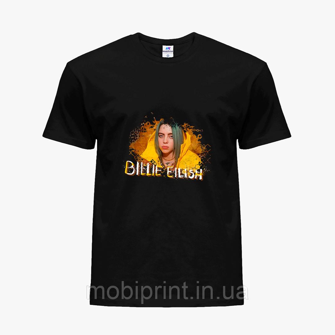 Детская футболка для девочек Билли Айлиш (Billie Eilish) (25186-1215) Черный