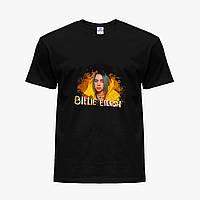 Детская футболка для девочек Билли Айлиш (Billie Eilish) (25186-1215) Черный , фото 1