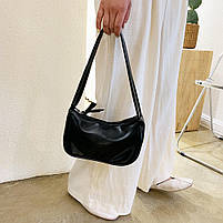 Женская сумочка лодочка в черном цвете, фото 4