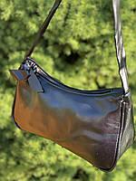 Женская сумочка лодочка в черном цвете, фото 7