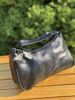 Женская сумочка лодочка в черном цвете, фото 8