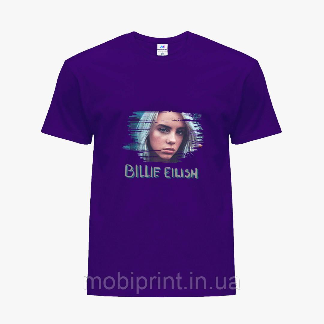 Детская футболка для девочек Билли Айлиш (Billie Eilish) (25186-1217) Фиолетовый