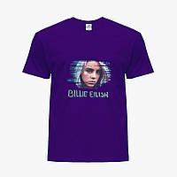 Детская футболка для девочек Билли Айлиш (Billie Eilish) (25186-1217) Фиолетовый , фото 1