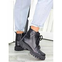 Женские ботинки трапперы черная кожа 7462-28, фото 1