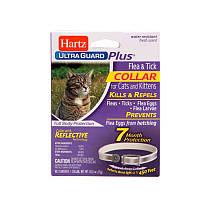 Hartz (Харц) Ошейник от блох и клещей для кошек и котят на 7 месяцев, светоотражающий