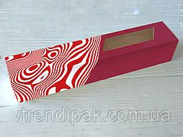 Коробка для macarons 300*60*50 Червона зебра