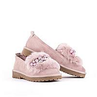 Балетки, натуральная кожа (спилок) , женская обувь оптом, фото 1