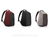 Школьный городской рюкзак антивор Bobby с USB портом XD design, фото 6