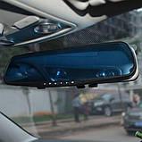 Зеркало видеорегистратор 2 две камеры заднего вида, регистратор автомобильный, фото 2