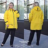 Куртка женская наполнитель синтепон 100 размеры 50 52 54 56 58 60 62, фото 3