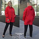 Куртка женская наполнитель синтепон 100 размеры 50 52 54 56 58 60 62, фото 8
