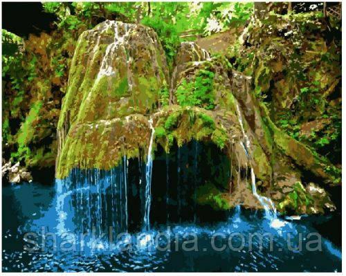 """Картина по номерам. Brushme """"Водопад Бигар, Румыния"""" GX8816"""