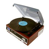 Проигрыватель виниловых пластинок Camry CR 1168 с радио и Bluetooth / MP3 / USB / SD / Запись, фото 1