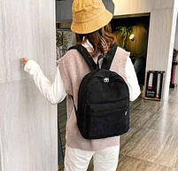 Оригінальний вельветовий жіночий рюкзак Чорний, фото 2