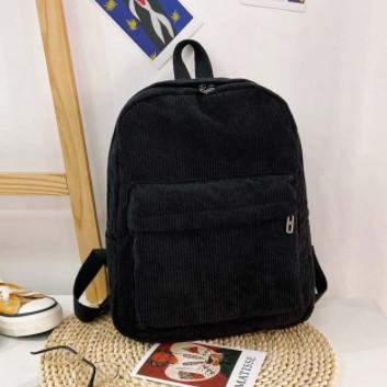 Оригінальний вельветовий жіночий рюкзак Чорний