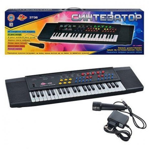 Детский синтезатор пианино SK 3738 микрофон,караоке