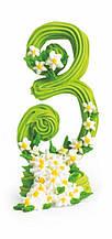 """""""3"""" Цифра ювілейна зелена оформлена"""