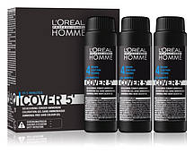 L'oreal Professionnel Homme Cover 5 - Окрашивающий гель для волос 4 (шатен), 3*50 мл