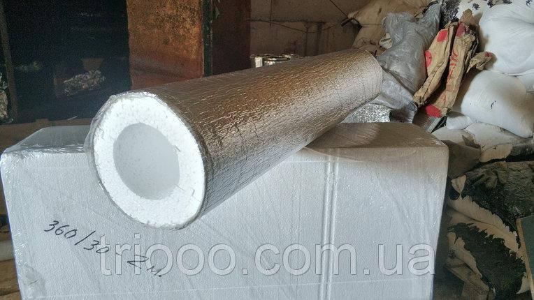 Шкаралупа з пінополістиролу (пінопласту) для труб Ø 113 мм товщиною 50 мм, фольгована, фото 2