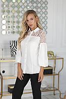 Женская блузка с кружевом, фото 1