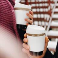Стеклянный кофейный стакан Sip 350 мл Белый