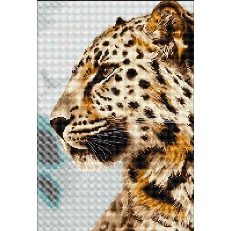 Набор для вышивания нитками Luca-S Животные Птицы Леопард