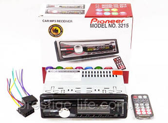 Автомагнитола Pioneer 3215 1DIN MP3 с RGB подсветкой