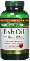 Рыбий жир Nature's Bounty Fish Oil 1200 mg 180 caps.