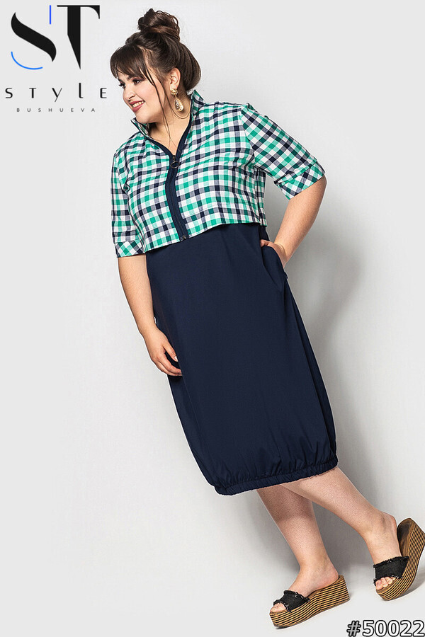"Элегантное женское платье, ткань ""Коттон+Софт"" 52, 54, 56, 58, 60, 62 размер батал 52"