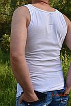 Мужская белая майка хлопок 100%, фото 3