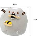 Мягкая игрушка кот с суши Pusheen cat + Подарок (n-658), фото 3