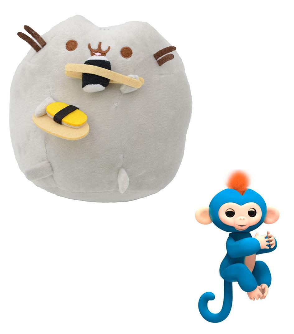 Мягкая игрушка кот с суши Pusheen cat + Подарок (n-658)