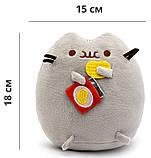 Комплект Мягкая игрушка кот с чипсами Pusheen cat и Игрушка интерактивная Happy Monkey (vol-661), фото 3
