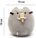 Комплект Мягкая игрушка кот с мороженым Pusheen cat и Игрушка интерактивная Happy Monkey (vol-663), фото 3