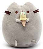 Комплект Мягкая игрушка кот с мороженым Pusheen cat и Игрушка интерактивная Happy Monkey (vol-663), фото 4